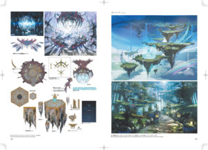 Concept art de zones de Heavensward de l'art book stone and steel
