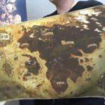 Une carte d'Eorzéa sur tissu dans le collector de FFXIV Stormblood