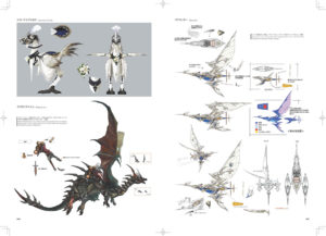Concept arts de montures volantes de l'art book FFXIV Heavensward Stone & Steel