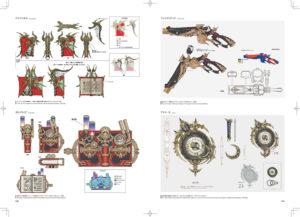 Concept art d'armes de Heavensward de l'art book stone and steel