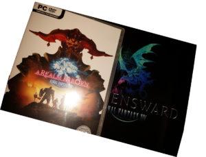 Une clé CD PC FFXIV : ARR et une clé CD PC FFXIV : Heavensward edition collector numérique