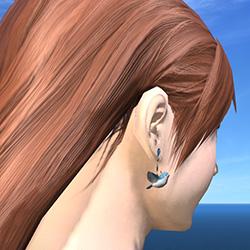 Boucle d'oreille Oiseau Bleu