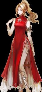 artwork de la robe chinoise