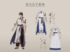 artwork complet de la tenue chinoise dédiée aux hommes