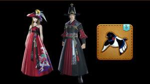 Les habits traditionnels coréens (hanbok) et une mascotte spéciale