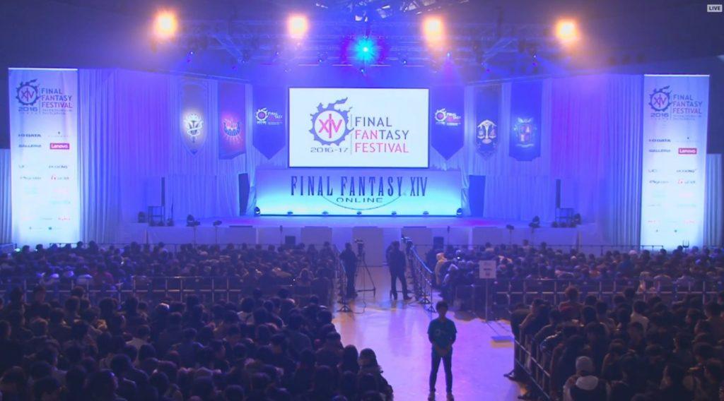 debut du ffxiv fan festival de tokyo 2016