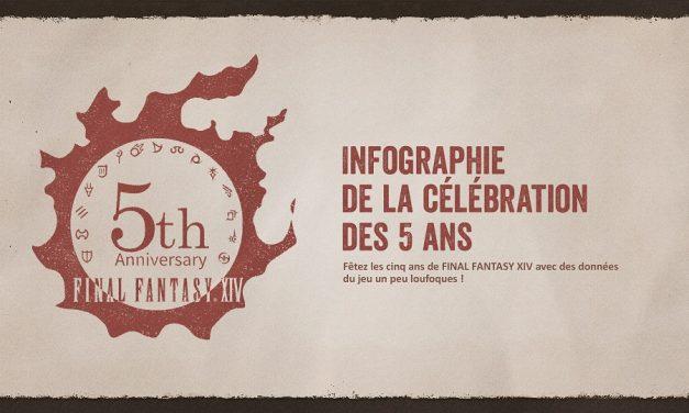 Infographie des 5 ans de FFXIV, nouvelle saison pour The Feast et patch note 4.41