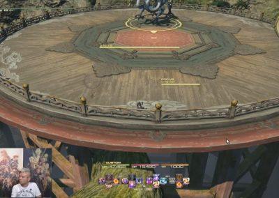 l'arene de combat de Seiryu dans FFXIV