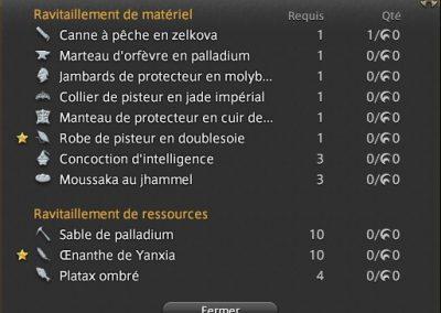 ffxiv-craft-ravitaillement-calendrier